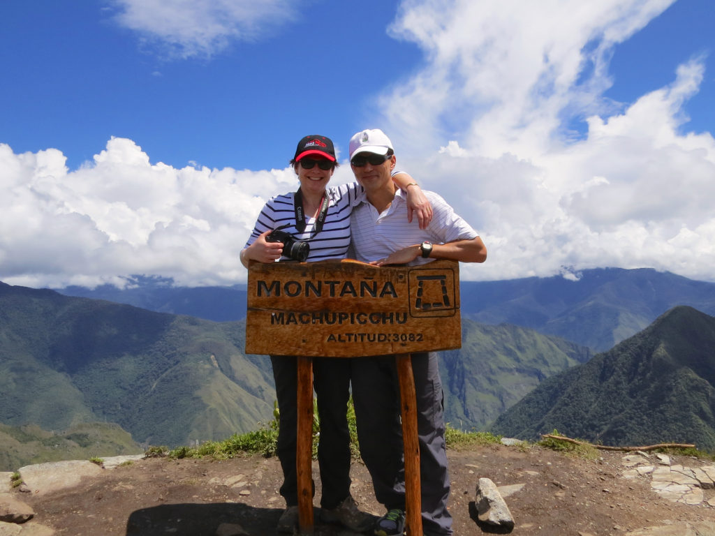 Susan and John at the top of Montana Machu Picchu