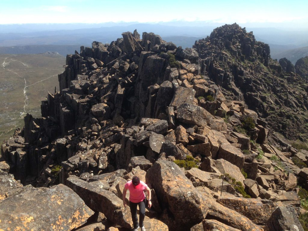 The rock scramble on the Cradle Mountain Summit Trail could be challenging in sections.