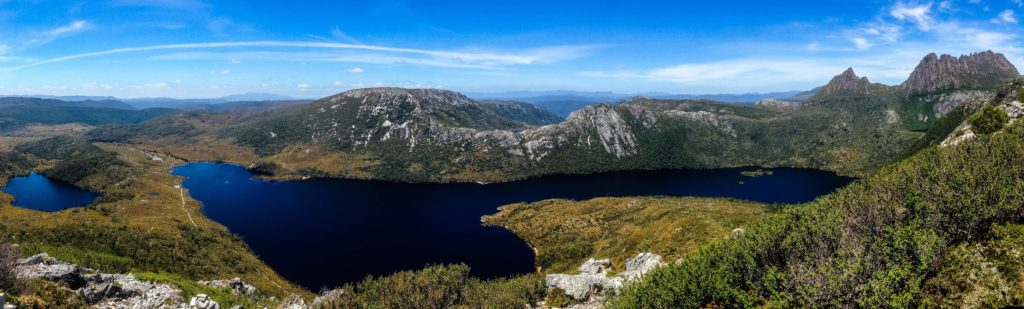 Stunning views over Dove Lake from the Cradle Mountain Summit Trail.