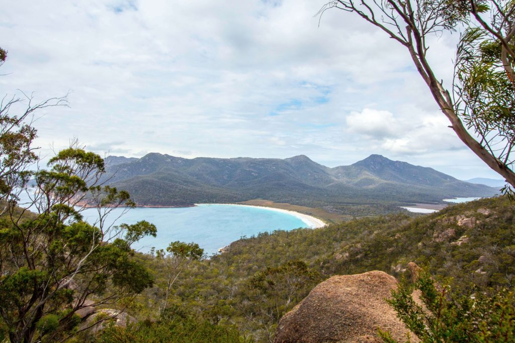 Stunning views from the lookout of Wineglass Bay.