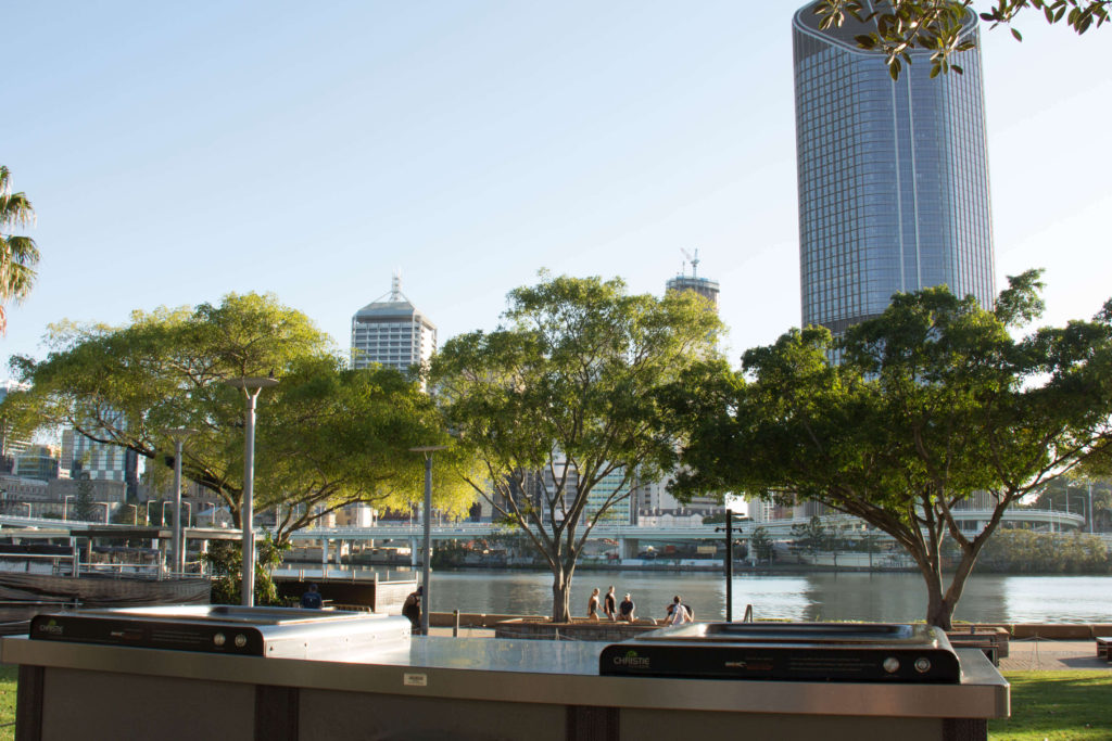 Enjoy one of the many free BBQ's at South Bank Parklands, Brisbane.
