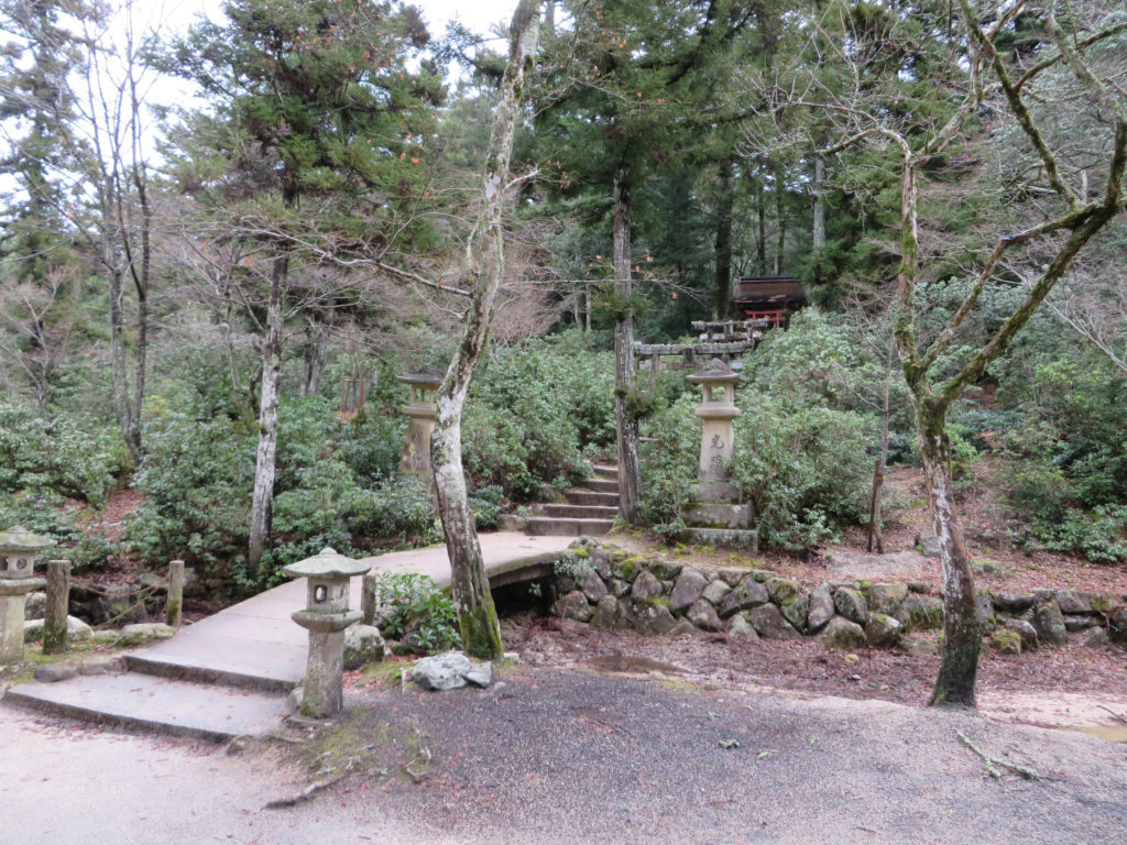 Enjoy the nature trails in Momijidani Park.