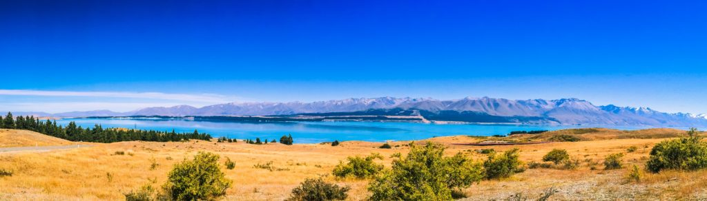 Alps 2 Ocean Cycling Holiday - view of Lake Pukaki from Tekapo Power Station