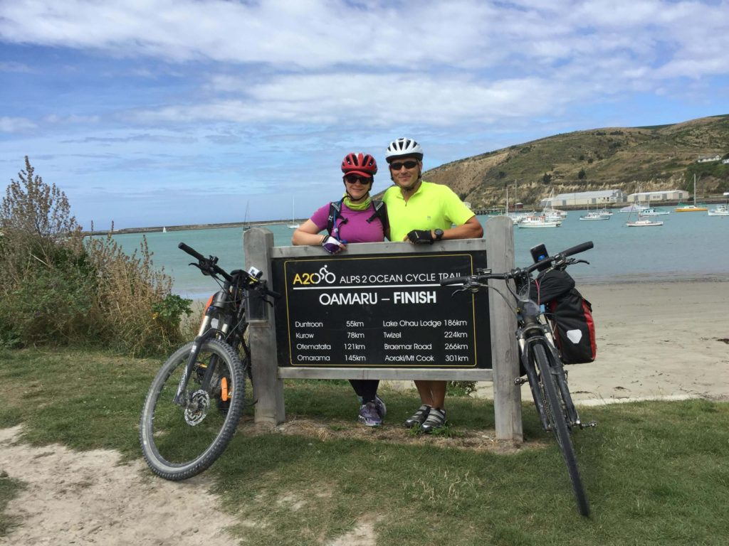 Alps 2 Ocean Cycling Holiday - Day 6. Oamaru, Oamaru, the finish of the Alps 2 Ocean Cycle Trail.