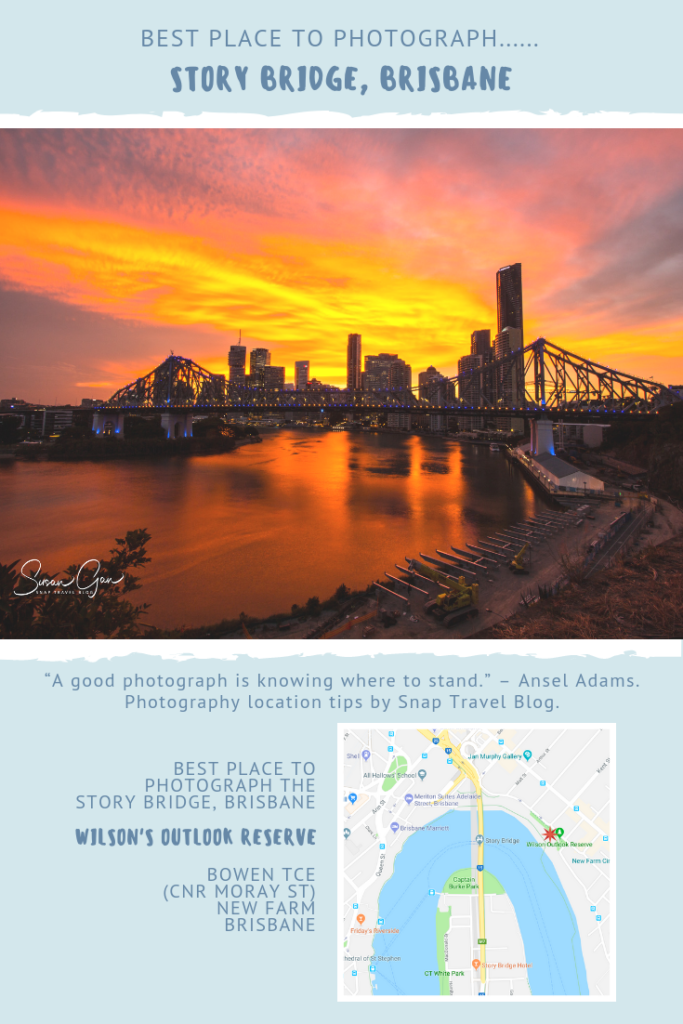 Best place to photograph the Story Bridge, Brisbane by Snap Travel Blog
