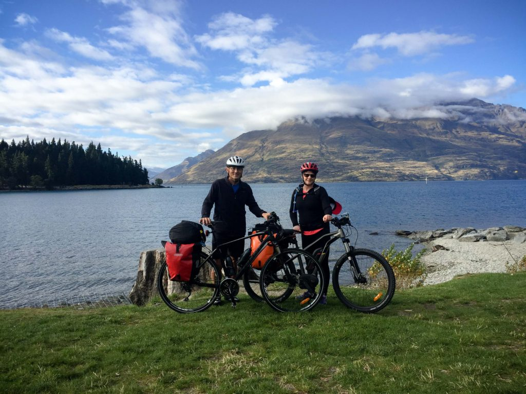 Alps 2 Ocean Cycling Holiday. Practice run with panniers.