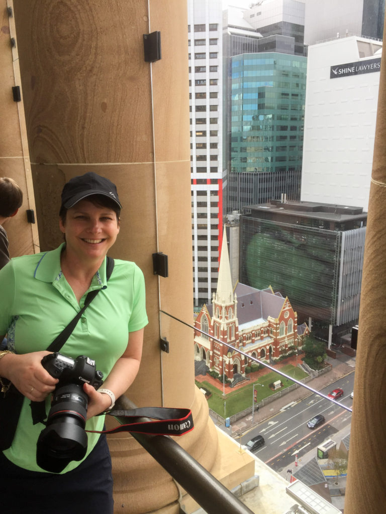 Susan on the Observation Platform for the Brisbane City Clock Tower Tour