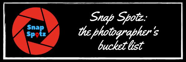 Snap Spotz; the photographer's bucket list