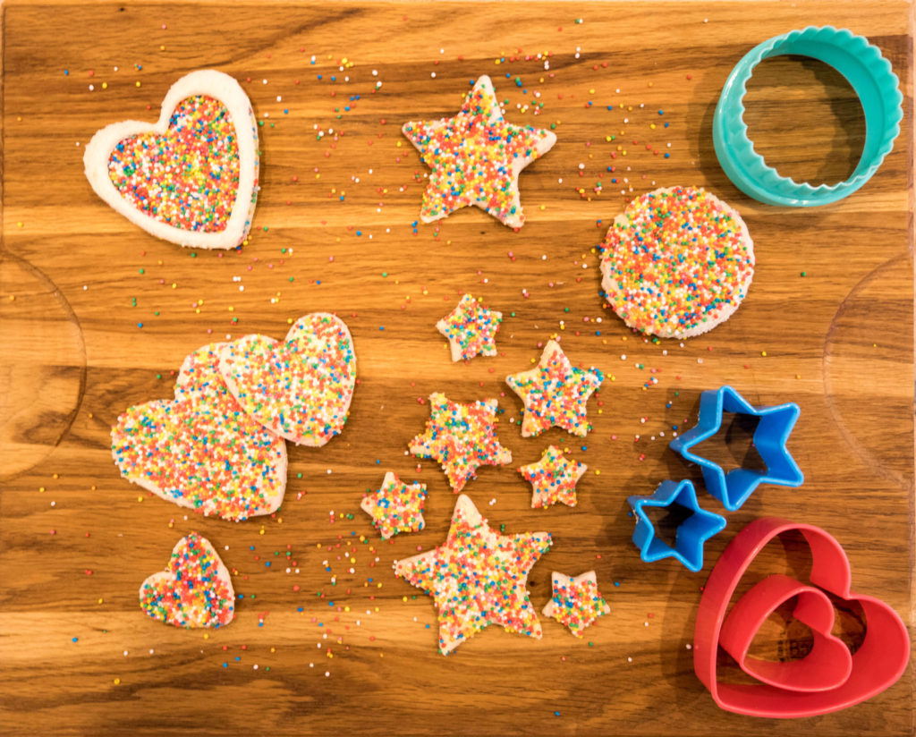 Have some fun when making Fairy Bread for kids parties.