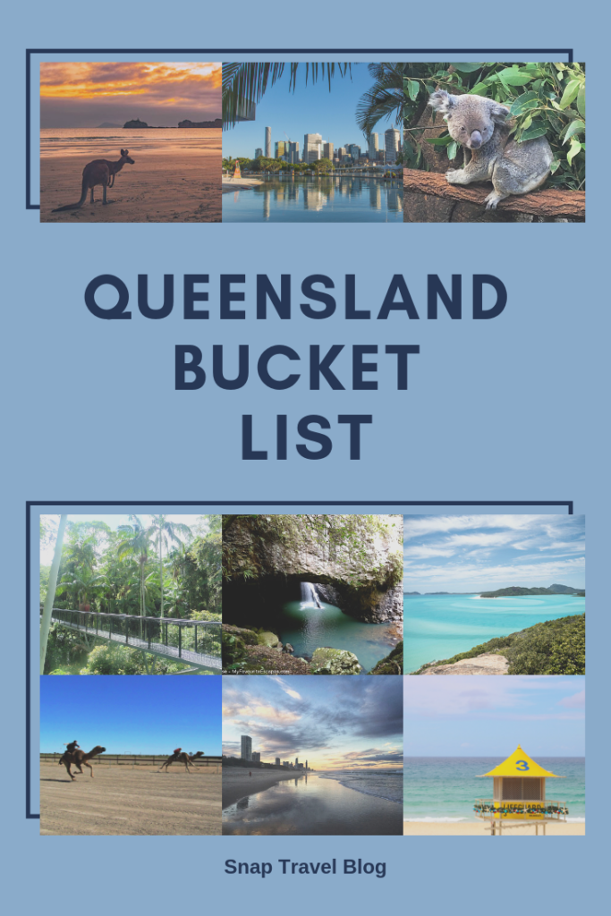 Queensland Bucket List - Snap Travel Blog. If you are planning a visit to Queensland then allow plenty of time. With an area of 1,727,000 square kilometres to explore there are lots of things you'll want to add to your Queensland Bucket List.